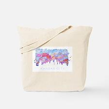 Kansas City Skyline Watercolor Tote Bag