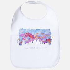 Kansas City Skyline Watercolor Bib