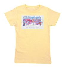Kansas City Skyline Watercolor Girl's Tee