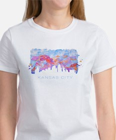 Kansas City Skyline Watercolor T-Shirt