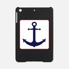 Nautical Anchor - White Blue and Red iPad Mini Cas