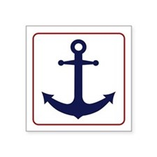 Nautical Anchor - White Blue and Red Sticker