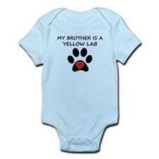 Yellow Lab Brother Body Suit