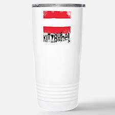 Kitzbühel Grunge Flag Travel Mug