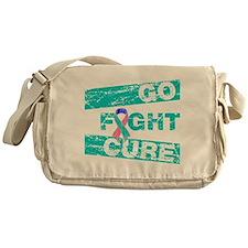 Thyroid Cancer Go Fight Cure Messenger Bag