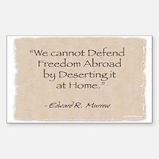 Rectangle Sticker: Defend -Murrow