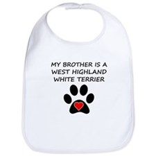 West Highland White Terrier Brother Bib