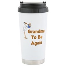 Stork Grandma To Be Again Travel Mug