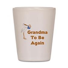 Stork Grandma To Be Again Shot Glass