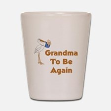 Stork Grandma To Be Again Shot Glass