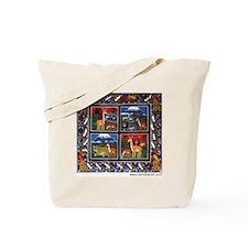 Four Animals (Wanyama Wanne) Tote Bag