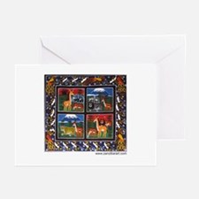Four Animals (Wanyama Wanne) Greeting Cards (Packa