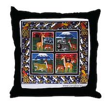 Four Animals (Wanyama Wanne) Throw Pillow