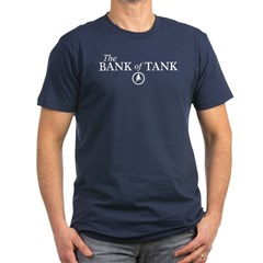 The Bank of Tank Men's Fitted T-Shirt (dark)