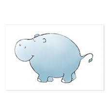 Blue Hippo Postcards (Package of 8)