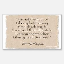Rectangle Sticker: Liberty -Thompson