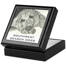 Cute Bloodhound Keepsake Box