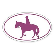 Female English Style_Purple Horse Decal