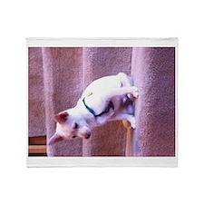 Rat dog Throw Blanket