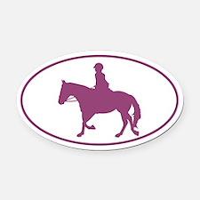 Female English Style_Purple Horse Vehicle Magnet
