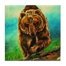 Running Bear Tile Coaster