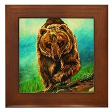 Running Bear Framed Tile