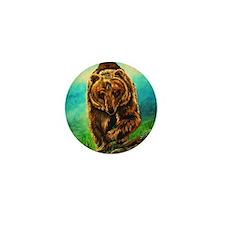 Running Bear Mini Button