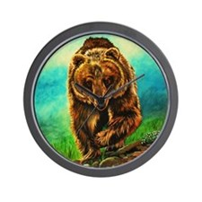 Running Bear Wall Clock