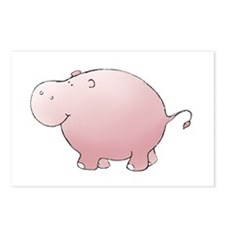 Pink Hippo Postcards (Package of 8)