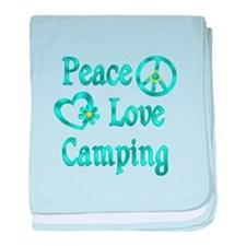 Peace Love Camping baby blanket