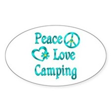 Peace Love Camping Decal