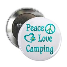 """Peace Love Camping 2.25"""" Button"""