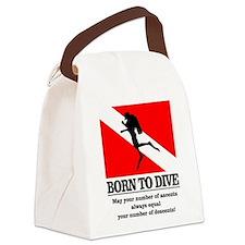 Born To Dive (Descent-Ascent) Canvas Lunch Bag