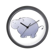 Purple Hippo Wall Clock