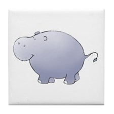 Purple Hippo Tile Coaster