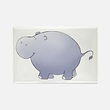 Purple Hippo Rectangle Magnet