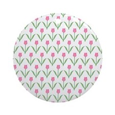 Pretty Floral Pattern Pink Tulip Flowers. Ornament
