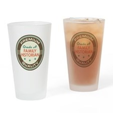 Family Historian Vintage Drinking Glass