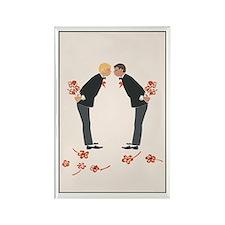 """Gay Wedding Couple"" Rectangle Magnet"