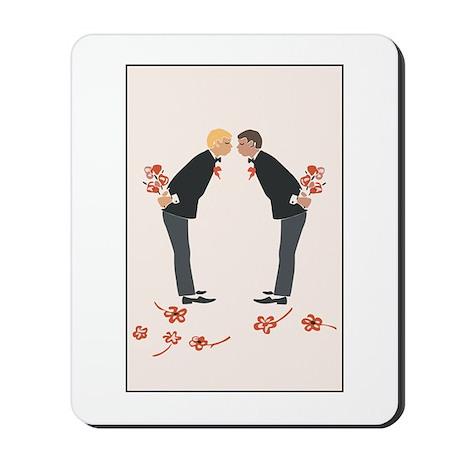 """""""Gay Wedding Couple"""" Mousepad"""