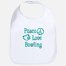 Peace Love Bowling Bib