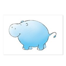 Turquoise Hippo Postcards (Package of 8)