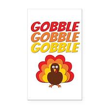Gobble Gobble Gobble Turkey Rectangle Car Magnet