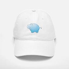 Turquoise Hippo Baseball Baseball Cap
