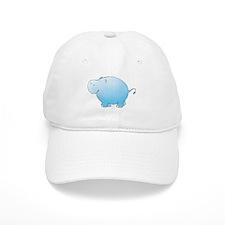 Turquoise Hippo Baseball Cap