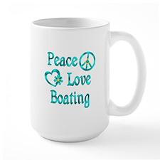 Peace Love Boating Mug