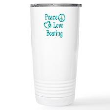 Peace Love Boating Travel Mug