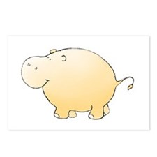 Yellow Hippo Postcards (Package of 8)