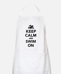 Keep calm and swim on Apron