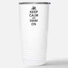 Keep calm and swim on Travel Mug